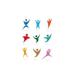 people sports symbols vector image vector image