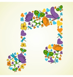 Spring music background vector image vector image