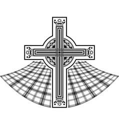 stencil of scottish celtic cross vector image