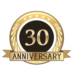 Thirty Year Anniversary Badge vector image vector image