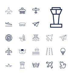 22 flight icons vector