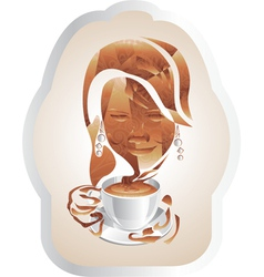 A cup of cappuccino vector