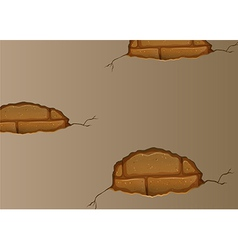 A wall with cracks vector