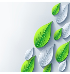 Abstract conceptual background with 3d leaf vector