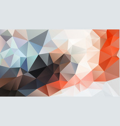 Abstract irregular polygon background orange blue vector