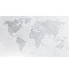 Abstract light grey world map background digital vector