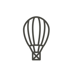 air balloon icon outline fly transport li vector image