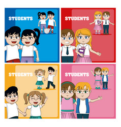 Back to school cards vector