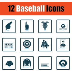 Baseball icon set vector