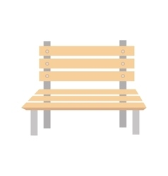 bench wooden chair vector image
