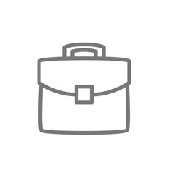 briefcase portfolio bag line icon vector image