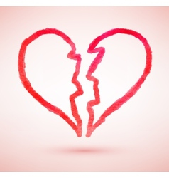 Broken heart sketch vector image