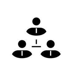 business team black icon concept vector image