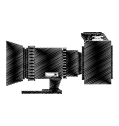 Camera photo fron side view vector
