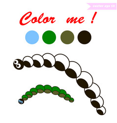 Caterpillar coloring book vector