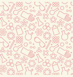 Chemistry symbols seamless pattern vector