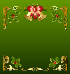 christmas vintage frame vector image vector image