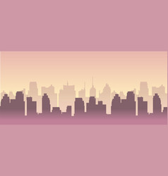 city building silhouette cityscape vector image