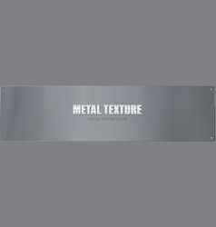 clean metal plate bolted with screws placard vector image