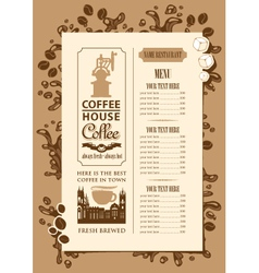 Coffee house menu vector image
