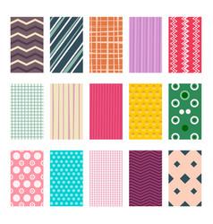 colorful retro geometric textile or paper vector image