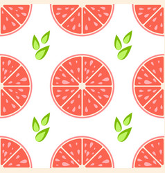 colorful seamless pattern of delicious grapefruit vector image