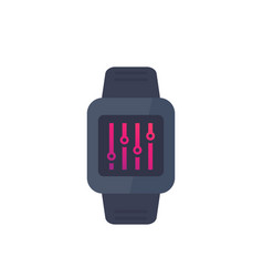 Configuration with smart watch settings control vector