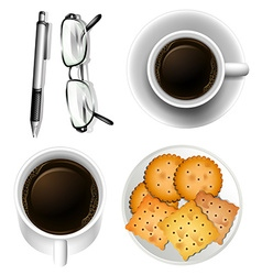 Cookies and coffee vector image