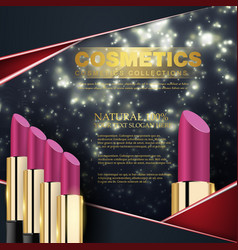 cosmetics beauty series ads of premium vector image