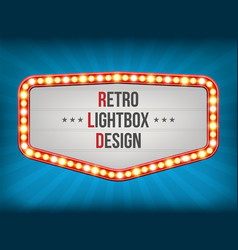 creative of retro light bulb vector image