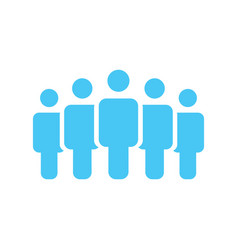 crowd of five people icon silhouettes social vector image