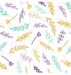 Cute pastel branches background vector