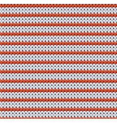 Detailed knitted striped red-and-white pattern vector