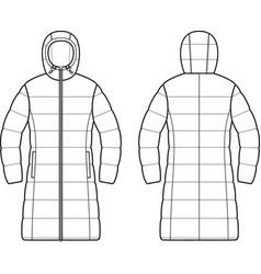 Down coat vector