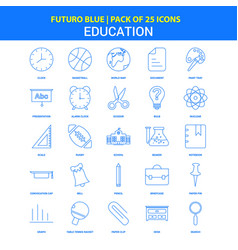 Education icons - futuro blue 25 icon pack vector