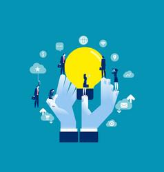 Encourage creative idea sharing concept business vector