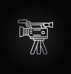 Film camera colorful icon vector