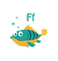 Fish Funny Alphabet Animal vector image