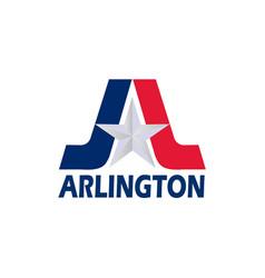 flag arlington texas usa vector image