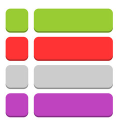 Flat blank icon empty internet color button vector