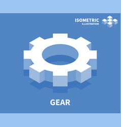 gear icon isometric template for web design vector image