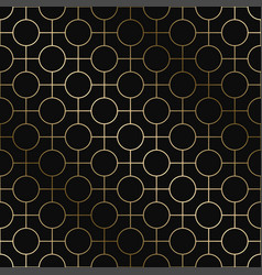 geometric art deco pattern - seamless vector image