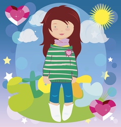 Girl story vector image vector image