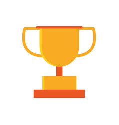 gold trophy award winner education school icon vector image