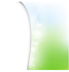 Green and blue pastel poster with line vector