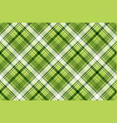 Green irish tartan fabric texture vector