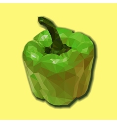 Green polygonal capsicum vector
