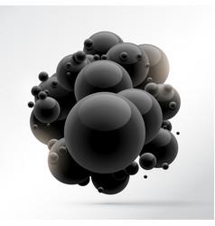 Group of black molecules vector