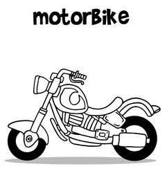 Hand draw of motorbike art vector