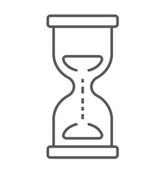 Hourglass thin line icon development and business vector